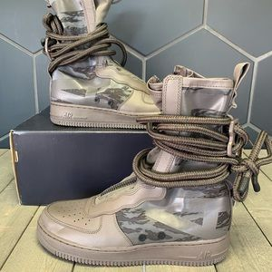 New Nike SF Air Force 1 High Ridgerock Boots Brown